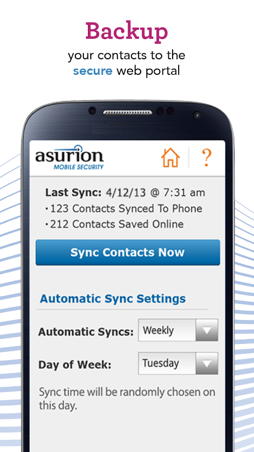 Sync your cell phone data with Asurion - Your Technology Protection Company. #BecauseCrazyHappens