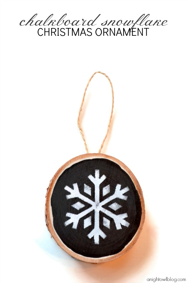 Check out this fun and easy handmade Chalkboard Snowflake Christmas ornament made with #MarthaStewartCrafts! #12MonthsofMartha