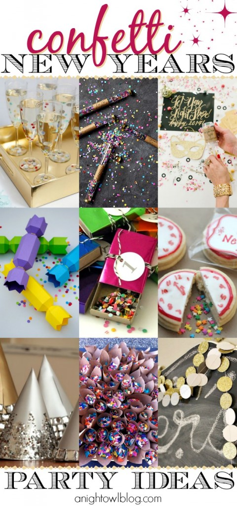 Make your NYE party TONS of fun with these Confetti New Years Eve Party Ideas!