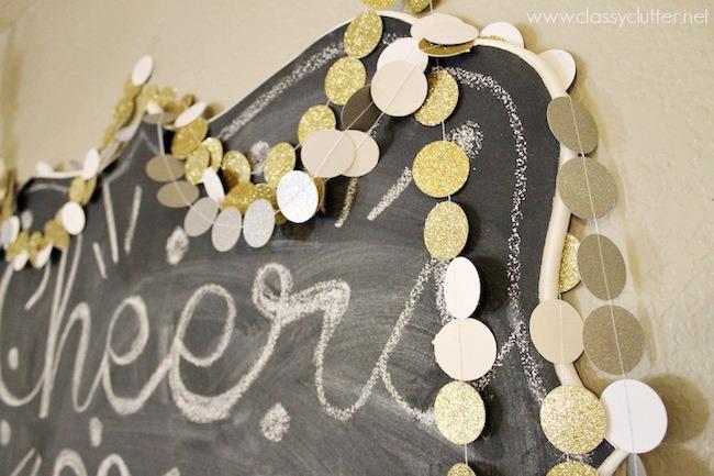 Confetti Glitter Garland by Classy Clutter