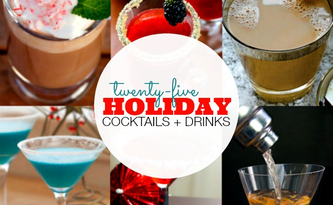 25+ Holiday Cocktails + Drinks | anightowlblog.com