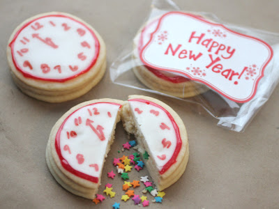 Confetti Clock Cookies by Repeat Crafter Me