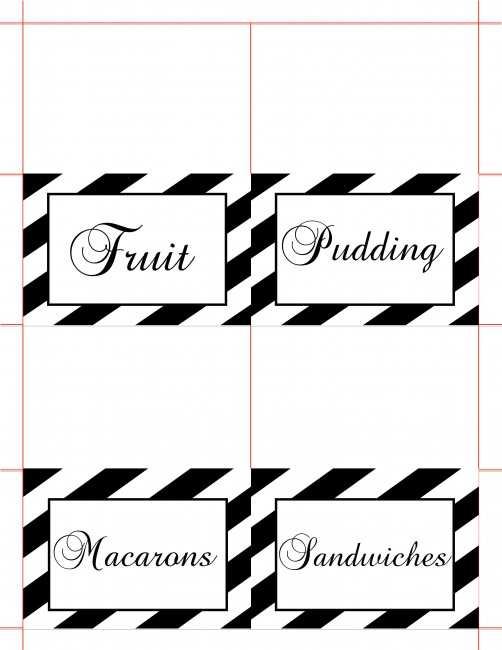 Pretty Food Label Cards - Tea Party Printables for your every need!