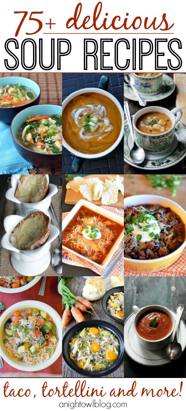 75 Delicious Soup Recipes A Night Owl Blog