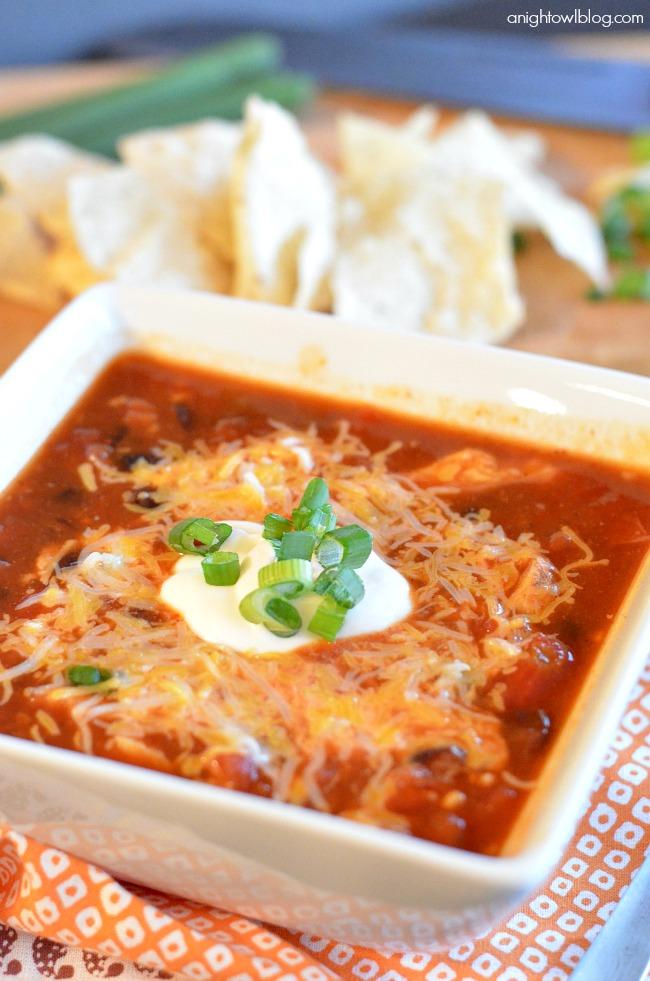 Easy Chicken Enchilada Soup A Night Owl Blog