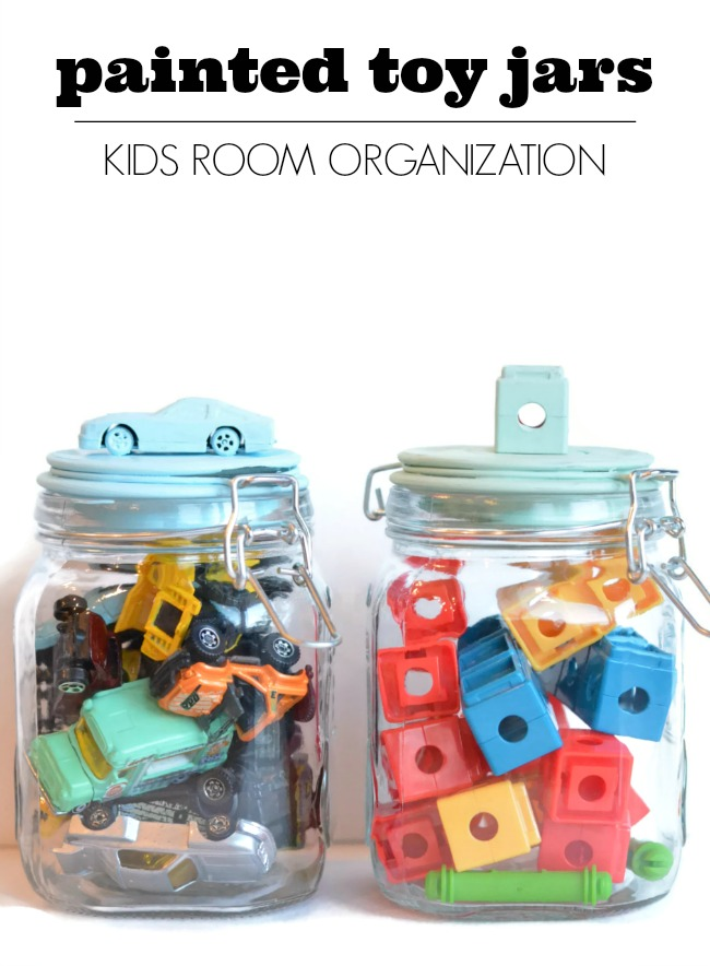 Painted Toy Jars via DecoArt