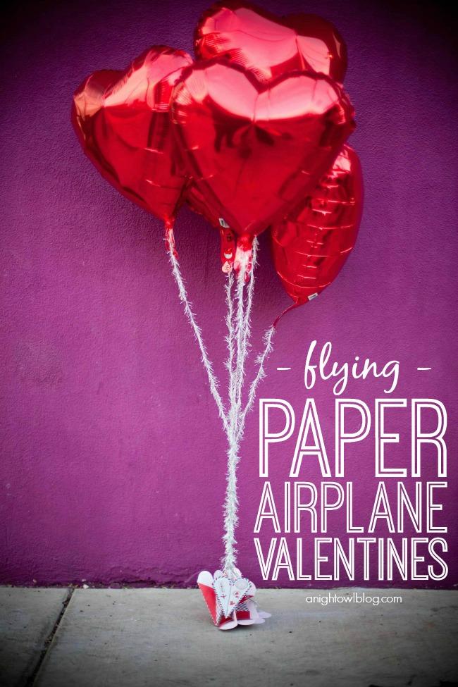 Make your Valentines soar this year with Flying Paper Airplane Valentines! | #valentines #marthastewartcrafts #12monthsofmartha