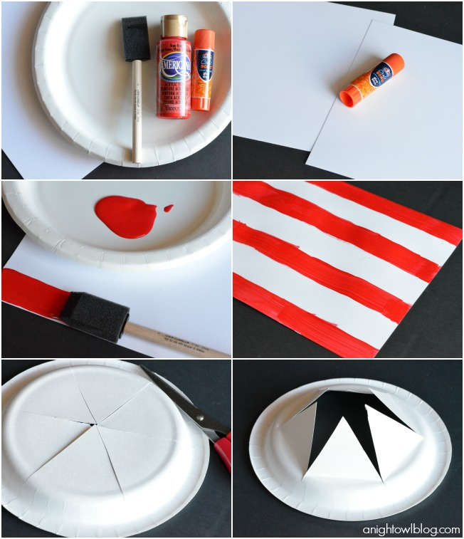 Celebrate Dr. Seuss' birthday in style this year by making these adorable and EASY Cat in the Hat Paper Plate Hats!