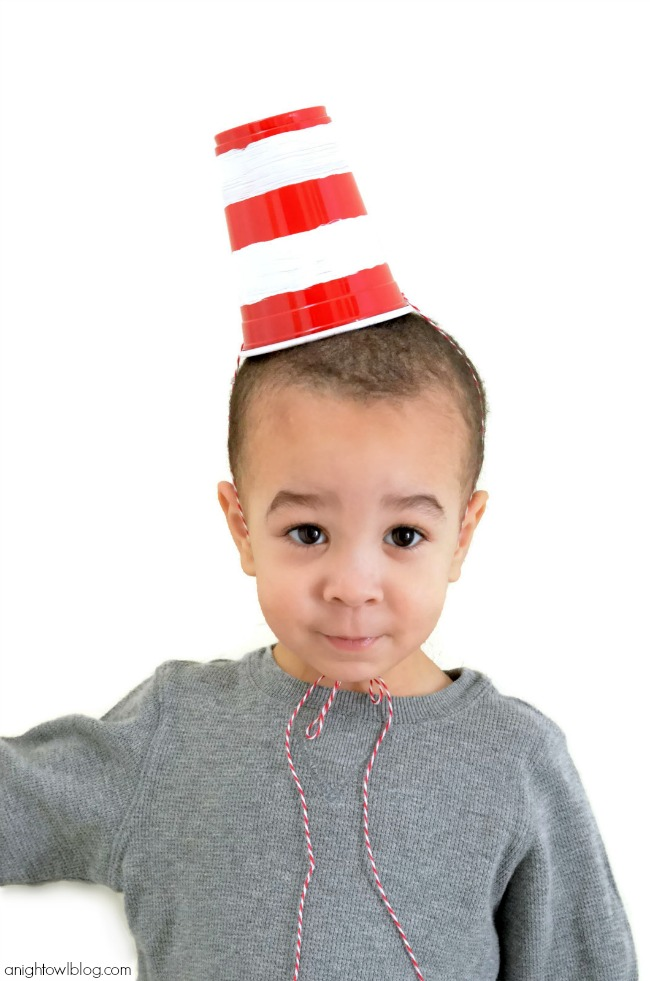 Celebrate Dr. Seuss' birthday in style this year with these adorable and EASY Cat in the Hat Party Hats!