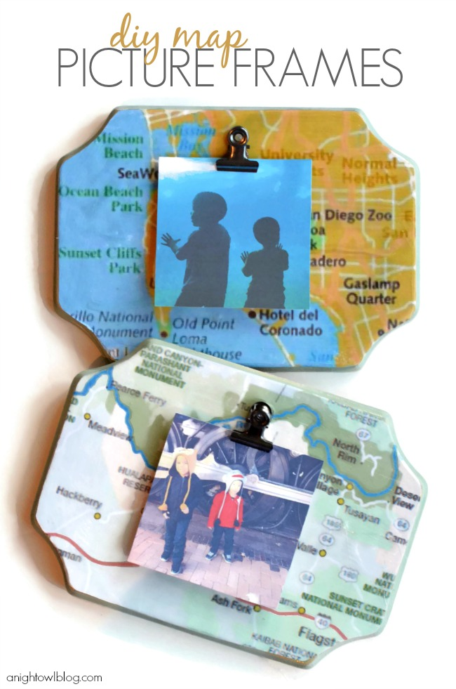 pictures displayed on map plaques