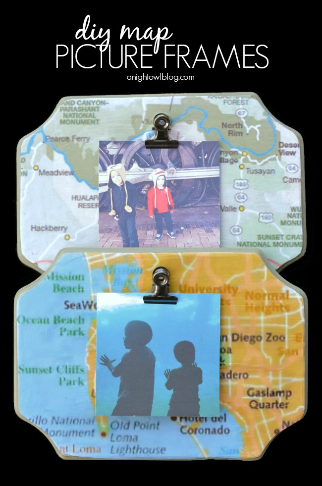 Make customized frames with maps of locations you've visited!
