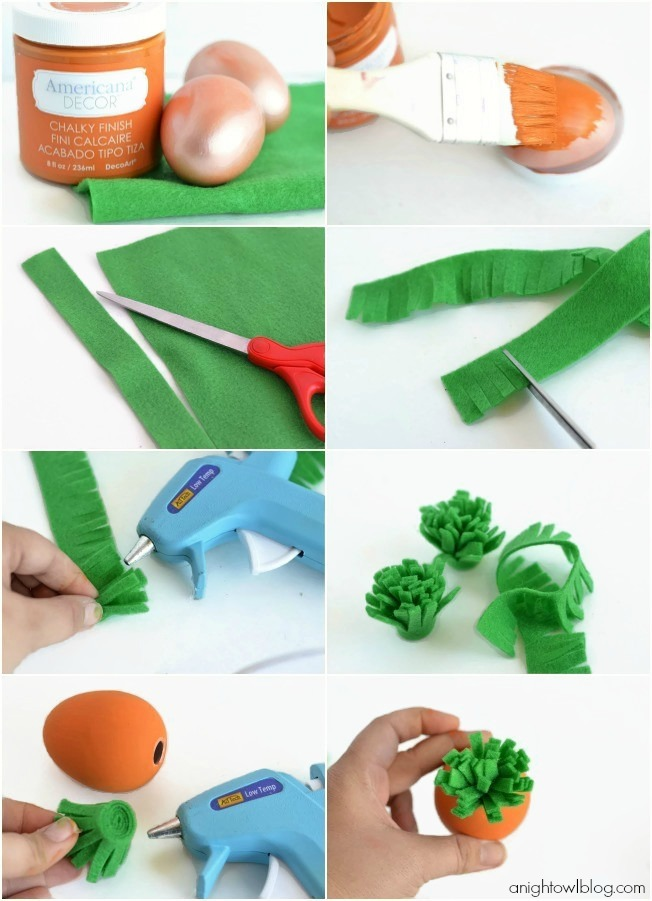 How to make adorable and easy DIY Carrot Easter Eggs