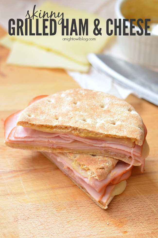 Skinny Grilled Ham and Cheese Sandwich - so easy and delicious!