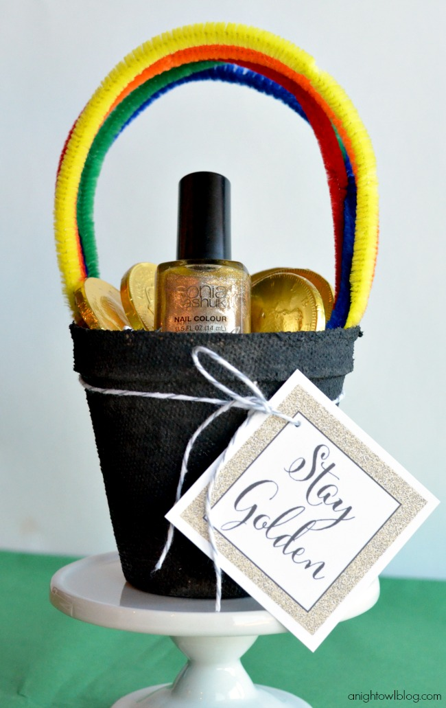 Stay Golden St. Patrick's Day nail polish gift
