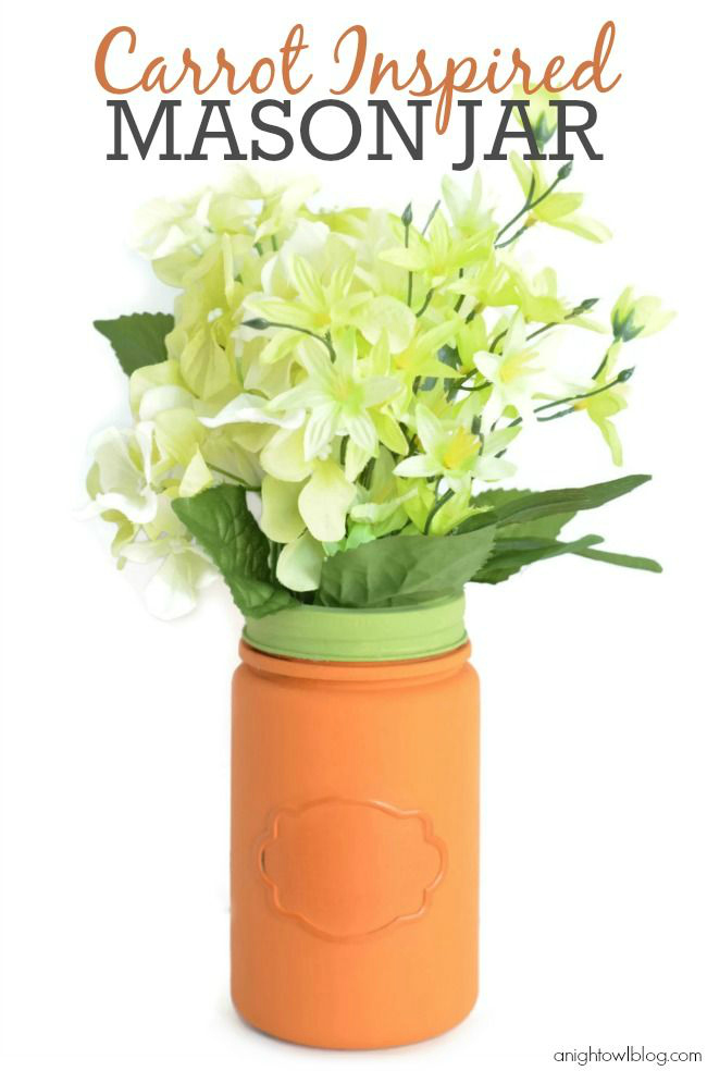 Carrot Inspired Mason Jar