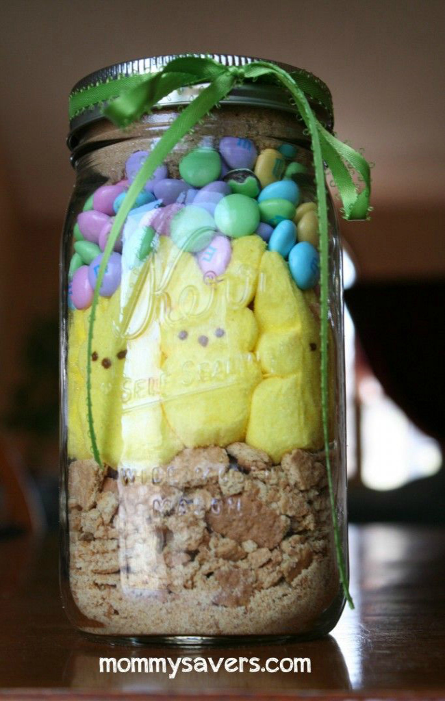 Easter Bunny Smores In A Jar