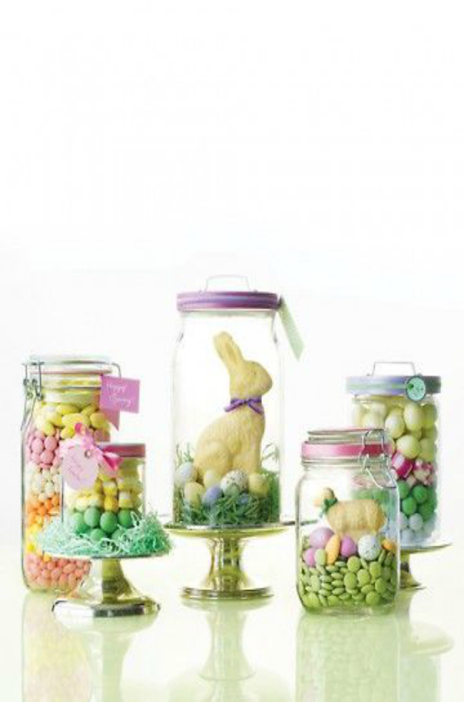 Easter Centerpiece Jars