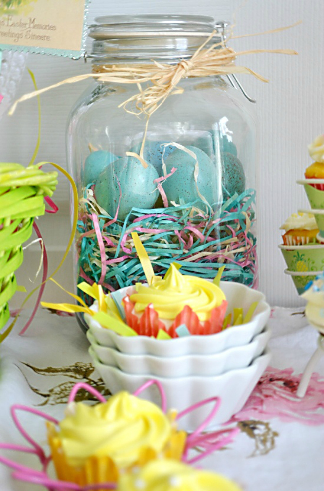 Easter Eggs In Jar