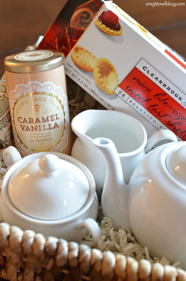 Mother's Day Gift Ideas - how to put together an English Tea Party gift basket!