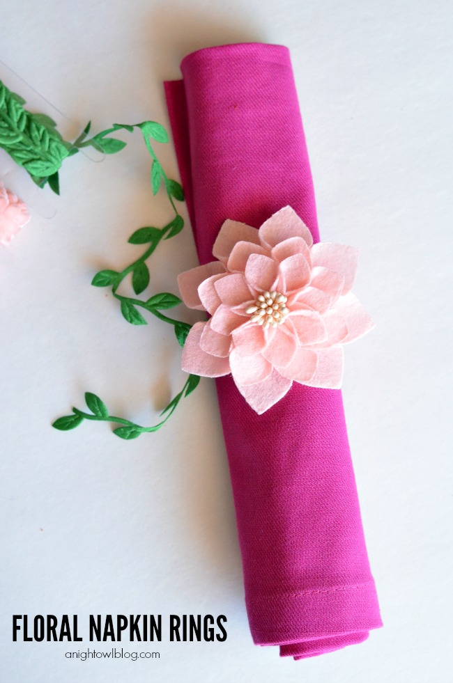 Floral Napkin Rings - make your own napkin rings in just a few easy steps!
