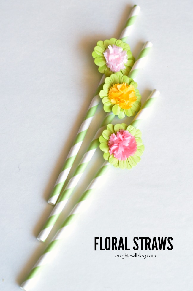 Floral Straws - embellish your party straws in just a few easy steps!