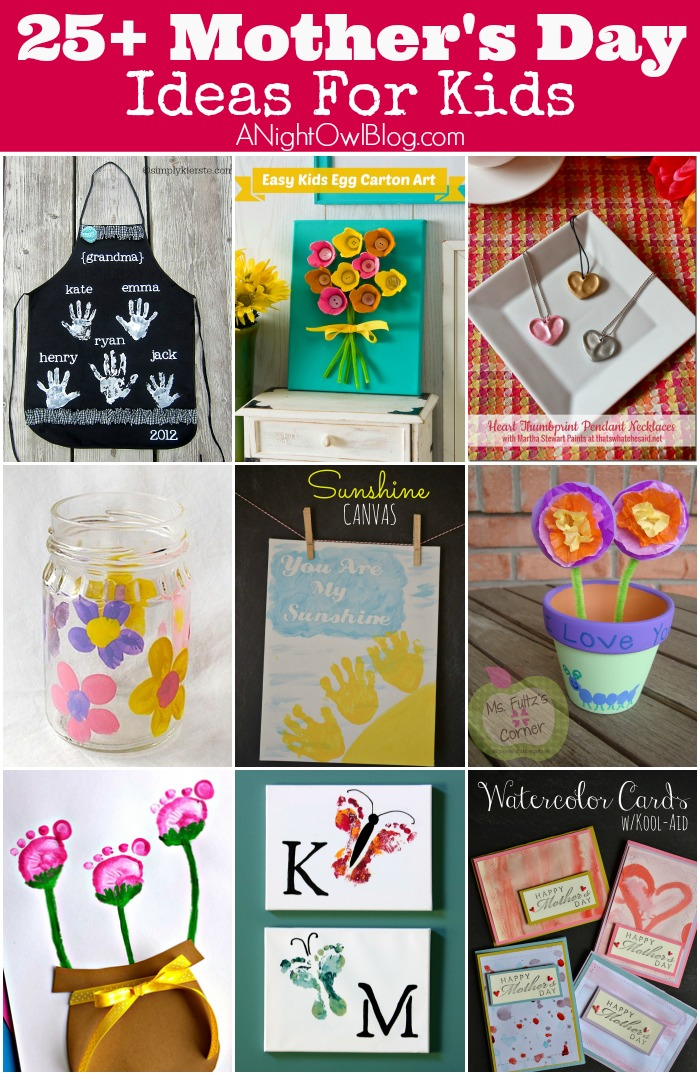 25 Mother S Day Crafts For Kids A Night Owl Blog