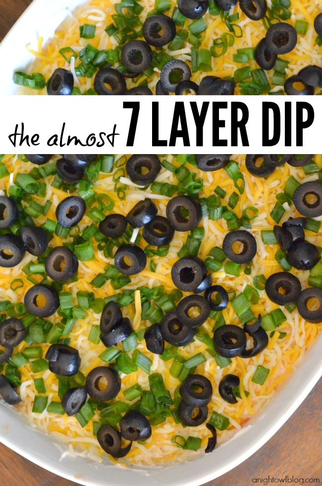 7 Layer Dip - make this delicious dip in just a few easy steps!