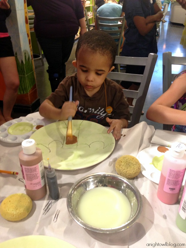 Pottery painting fun at As You Wish!