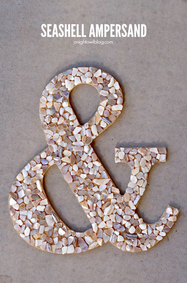 Make your own DIY Seashell Ampersand in just a few easy steps!