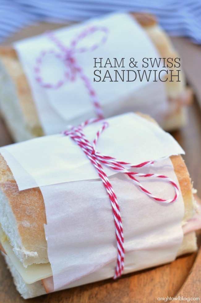 Ham and Swiss Sandwiches - perfectly wrapped for a picnic!