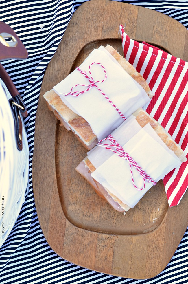 Wrapped sandwiches are perfect for a picnic!