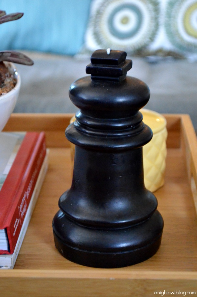 Love this chess piece candle!