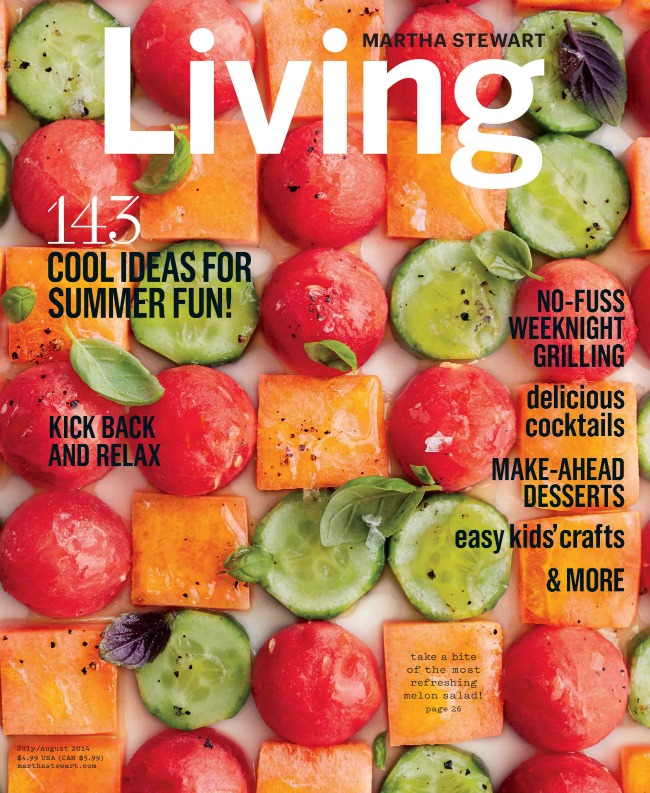 July/August Outdoor Entertaining issue of Martha Stewart Living