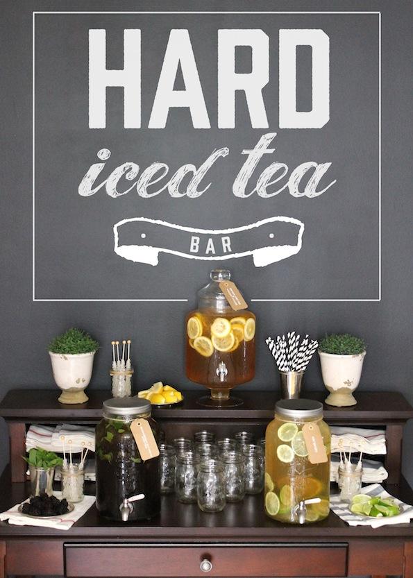 Hard Iced Tea Bar - what a great party idea!