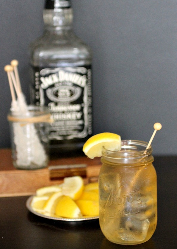 Smokey Iced Tea and Whiskey Cooler
