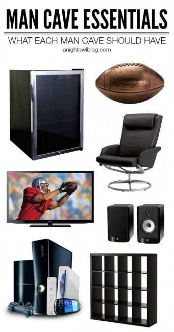 Man Cave Essentials - what every man cave should have!