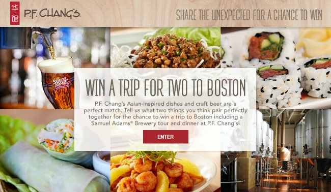 PF Changs Perfect Pairings Contest