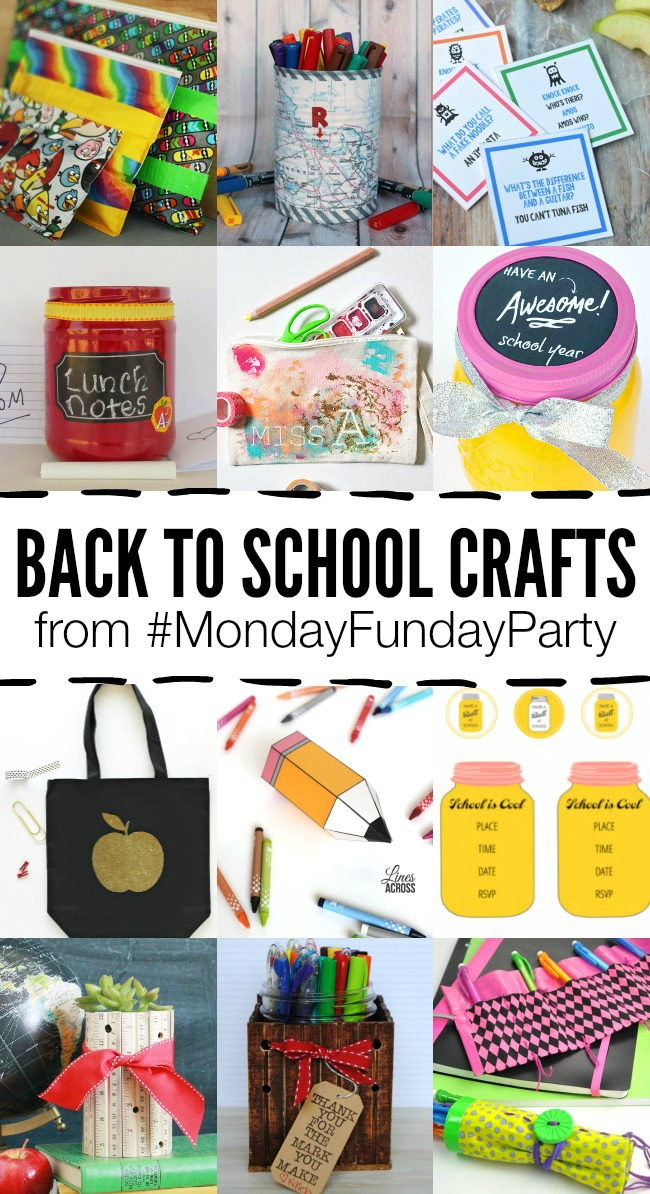 Back to School Crafts #MondayFundayParty