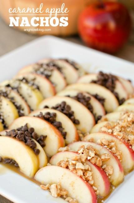 Caramel Apple Nachos | anightowlblog.com