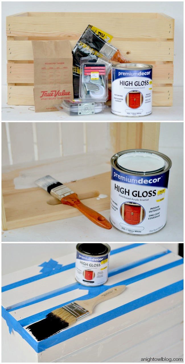 DIY Wooden Crate Toy Box | anightowlblog.com