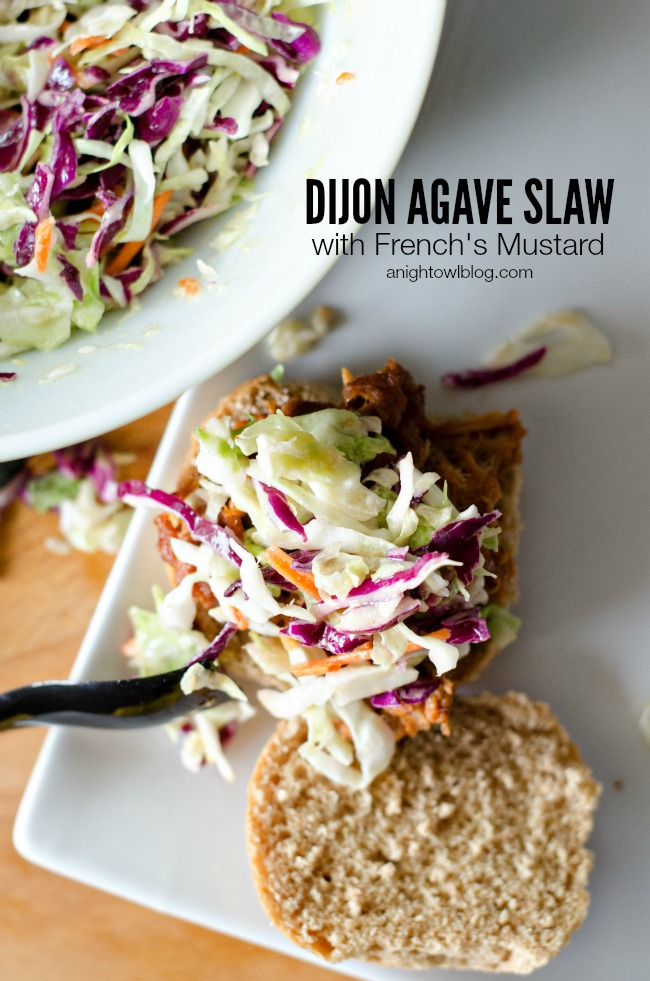 Dijon Agave Slaw with French's #NaturallyAmazing Dijon Mustard