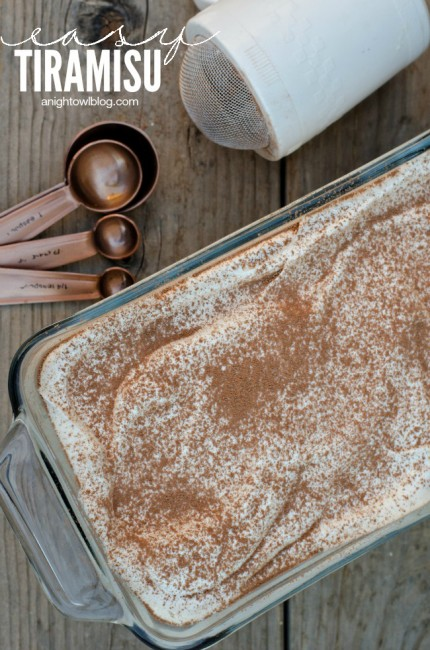 Easy Tiramisu Recipe | anightowlblog.com