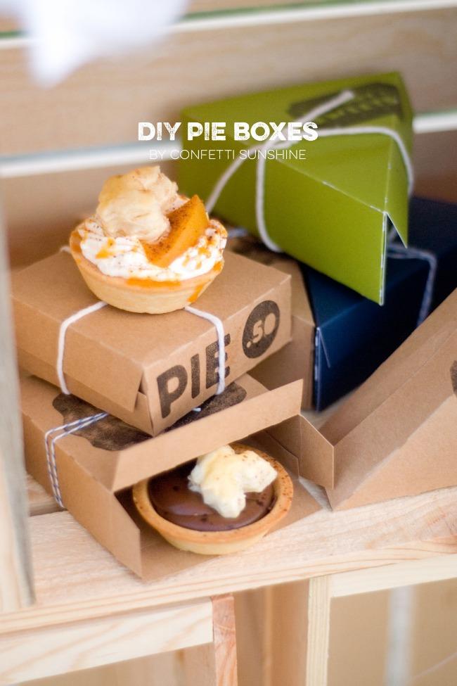 DIY Pie Boxes
