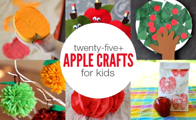 Apple Crafts for Kids | anightowlblog.com
