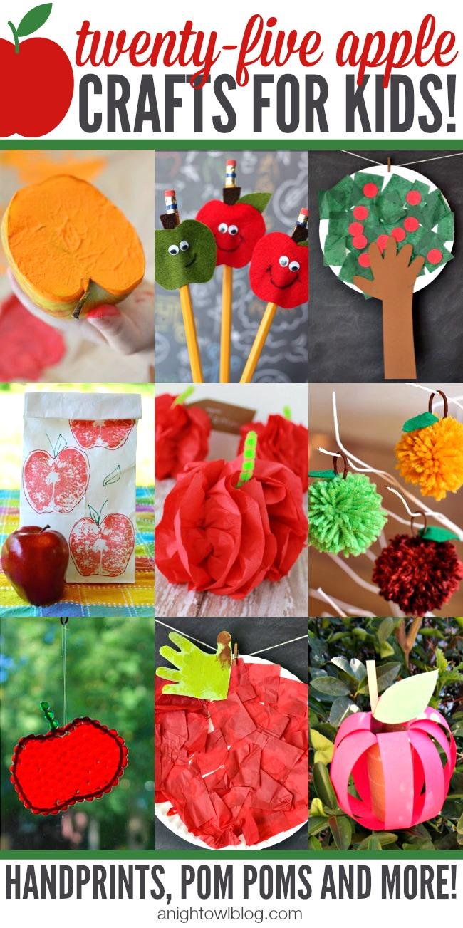 Apple Crafts for Kids | anightowlblog.com