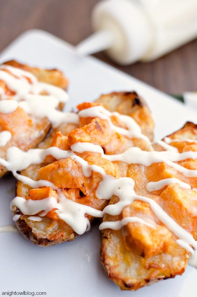 Buffalo Chicken Twice Baked Potatoes | anightowlblog.com