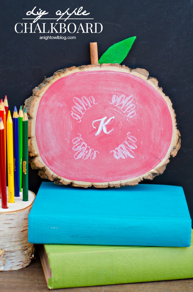 DIY Apple Chalkboard | anightowlblog.com