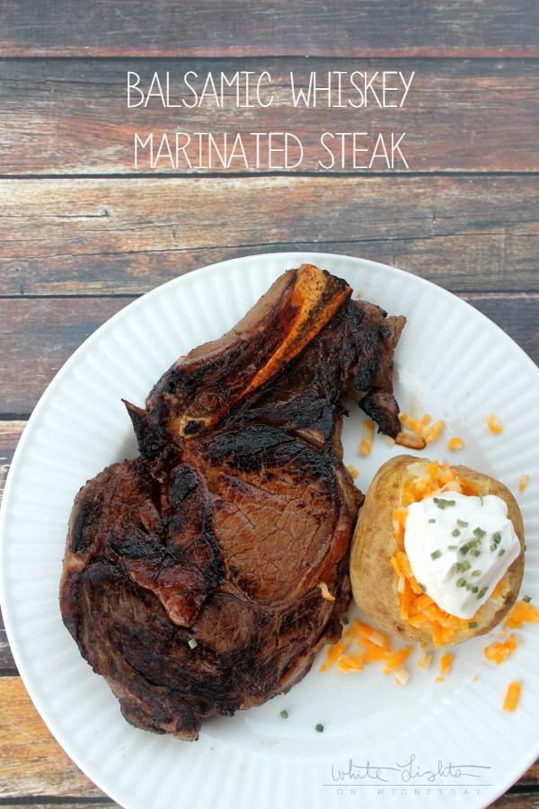 Balsamic Whiskey Marinated Steak | anightowlblog.com