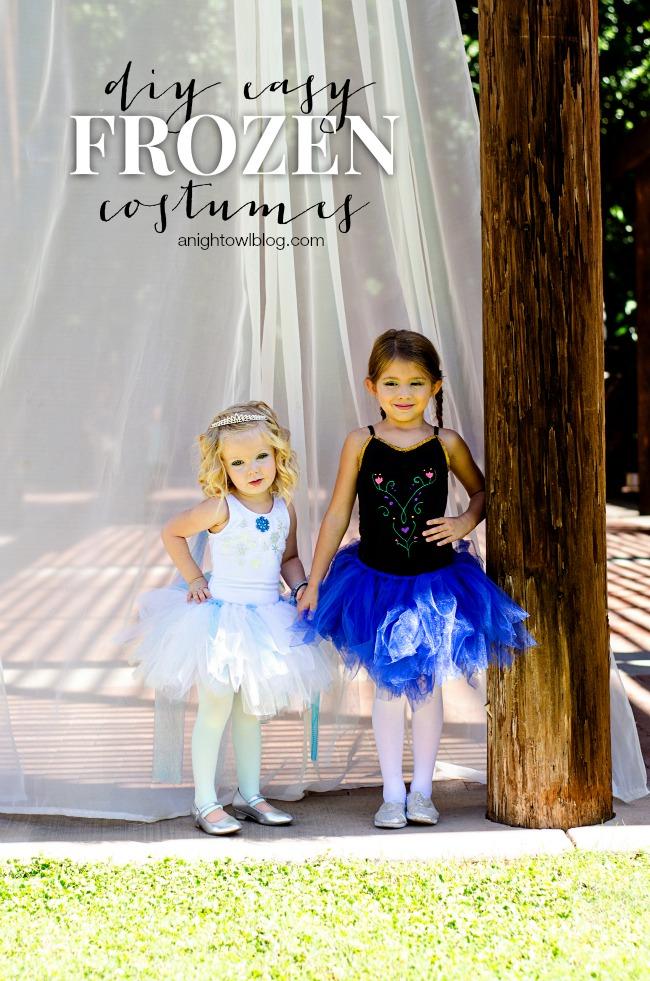 DIY Easy Frozen Costumes | anightowlblog.com