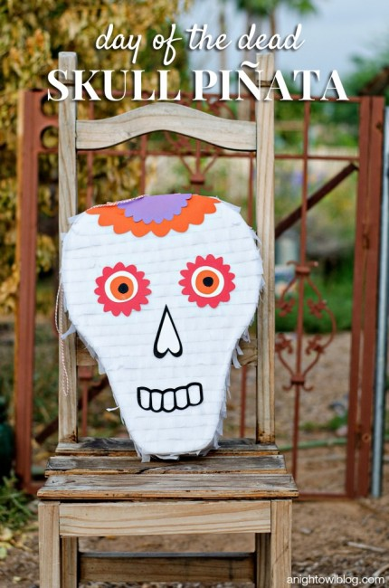 Day of the Dead Skull Pinata | anightowlblog.com
